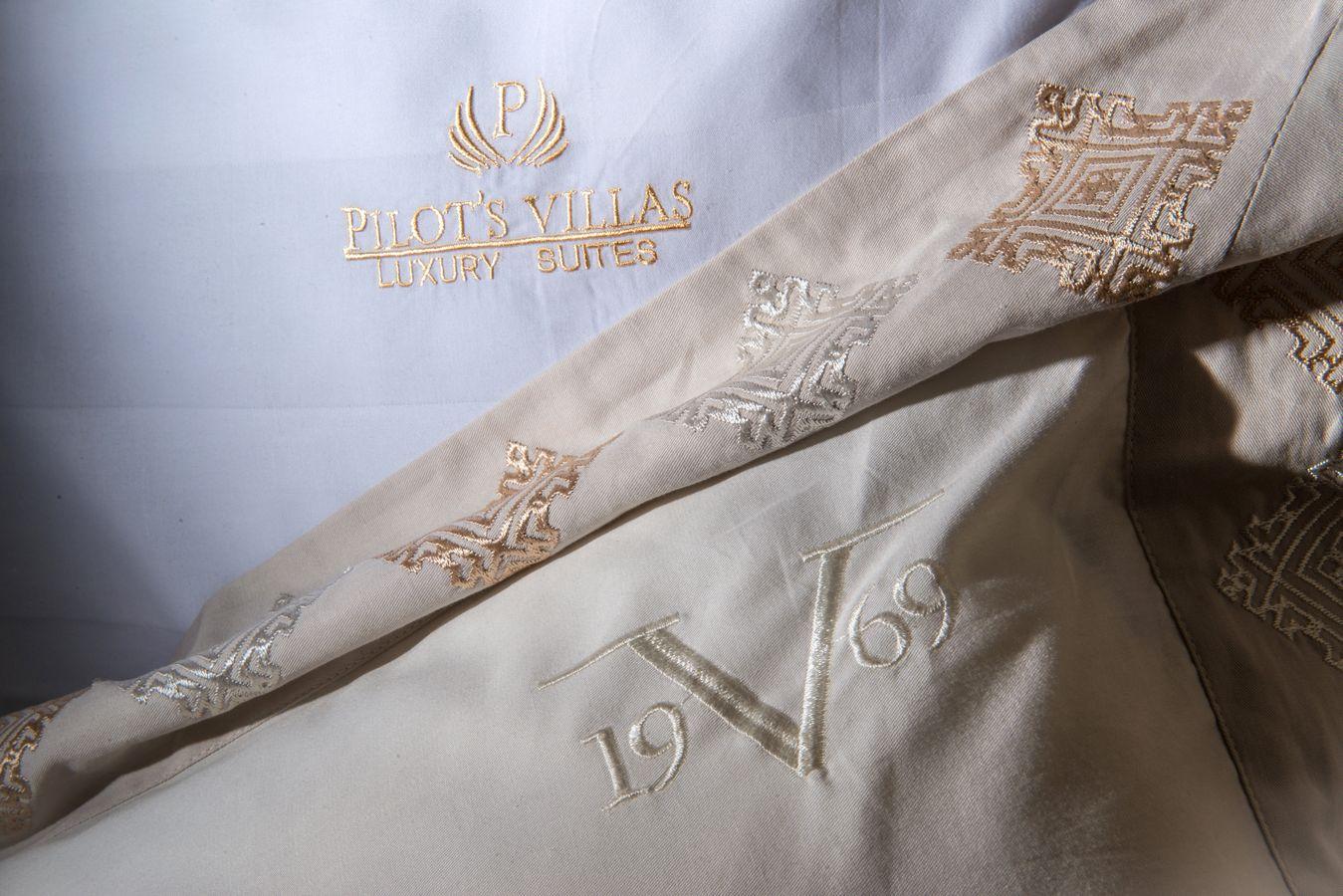 Suite bed linen detail - Pilots Villas Hersonissos Crete